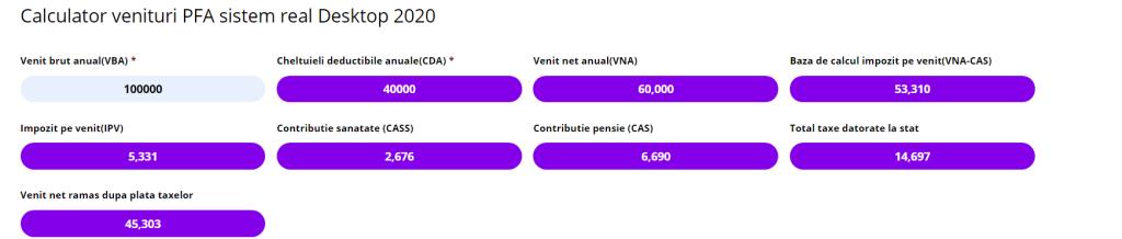 calculator taxe microintreprinderi
